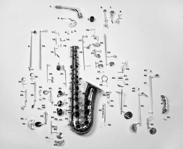 Игра на саксофоне по деталям