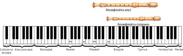 саксофон для детей блокфлейты сопрано и альт